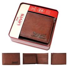 Levi's Men's RFID Blocking Credit Card ID Bifold Brown Logo Wallet 31LV22010 image 1