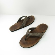 Keen Womens Size 8 Flip Flop Thong Sandals Dark Brown Leather Floral Fli... - $29.69