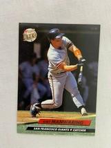Kirt Manwaring San Francisco Giants 1992 Fleer Baseball Card 293 - $2.96