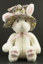 GUND FLOWERBUSH BUNNY Rabbit wearing Floral hat Plush Toy #3635 Easter - $17.99