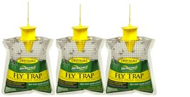 3-Lot Rescue Disposable Fly Trap Catches Up To 20000 Flies Just Add Wate... - $16.33