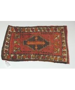 Genuine Hand Woven Design Name Old Turkish Rug Browns Oranges 24 by 34 - $151.00