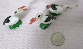 Vintage Miniature Bird Stork Pelican 1 5/8 x 1 1/2  Inches  Crafts 3 PC image 3