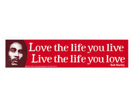 Love life live Live life love Marley This is 1 3/4 X 7 1/4 Vinyl Music Sticker - $4.50