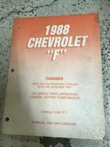 1988 Chevrolet CHEVY Camaro Parts Catalog Manual OEM  - $39.55