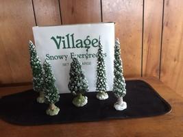 Vintage  DEPT 56 Large Snowy evergreens  retire... - $10.00