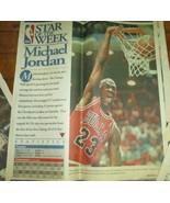 "1997 NBA ""STAR OF THE WEEK"" 14"" Photo's Newspaper JORDAN GRANT RICE LOT - $7.92"