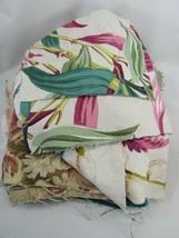 BARK CLOTH fabric SCRAPS Lot Cotton Textured vintage 48481 Pebble - $79.19