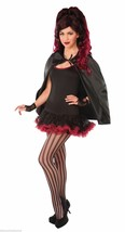 Black Fantasy Cape Super Hero Adult Unisex Halloween Costume Accessory - $7.59