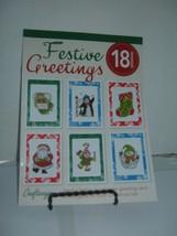 Craftways Festive Greetings 18 designs handmade Christmas cards 2014 - $6.43