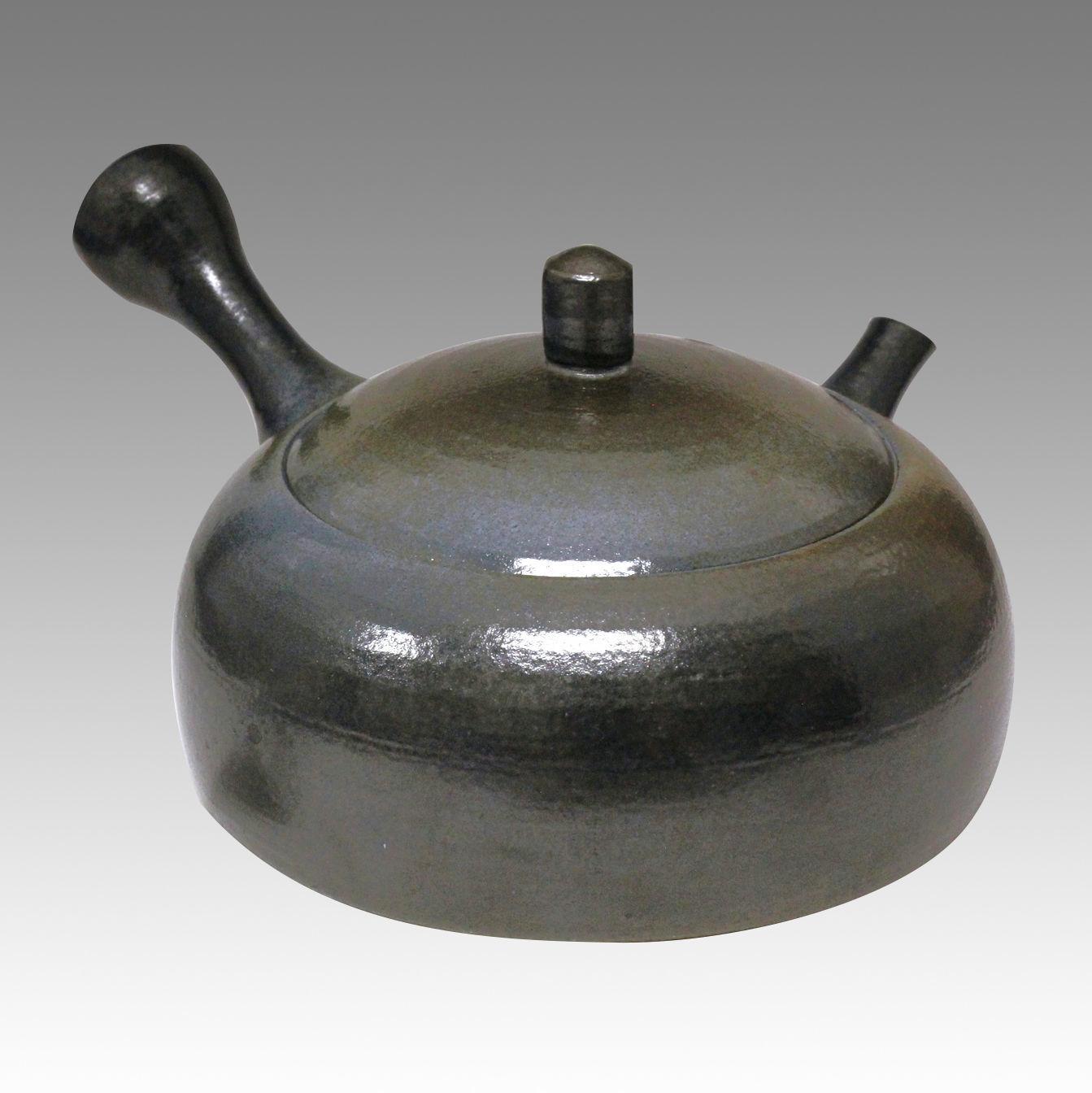 Japanese teapot Tokoname kyusu Blue ceramic Obi-ami TOSEI 350cc//ml