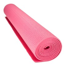 Exercise Mat, Crown 3mm Compact Pink Yoga Pilates Home Non-slip Exercise... - $27.99
