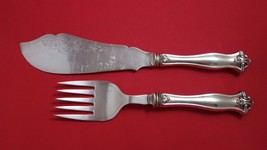 G. Luxner & Sons English Sterling Silver Fish Serving Set 2pc HH w/ Silv... - $246.05