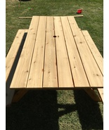 Picnic Table 6 foot cedar. built to last, south New Jersey area - $475.00