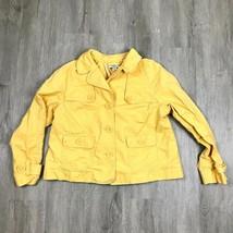 Ann Taylor LOFT Petites Jacket Womens 8P Yellow 100% Cotton Long Sleeve ... - $24.70