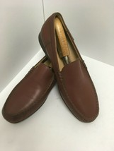 Mephisto Brown Leather Casual Comfort Moc Toe Slip On Loafer Shoe Mens S... - $46.74