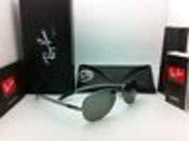 Ray-Ban Polarized Sunglasses Tech RB 8301 004/N8 59-14 Gunmetal w/ Grey ... - $249.95