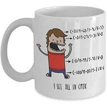 Funny Graphic Designer Coffee Mug - I See All In CMYK - Cartoon Novelty ... - $14.95+