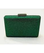 Anthony David Emerald Green Crystal Clutch Evening Bag - $56.99