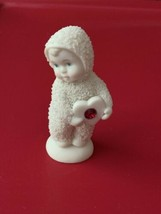 Dept 56 Snowbabies Holding Heart Ruby Red Figurine January July Birthstone - $9.89