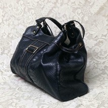 Crazy Horse- Liz Claiborne Black Embossed Faux Crocodile Purse 14.5inx10.5inx4in - $14.20