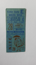 Season Ticket Stub for Giants at NY Mets, June 11, 1971-McCovey Homer - $12.20