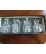 "Set of 4 LENOX Crystal HOLIDAY NOEL BLOCKS or STOPPERS - 1 1/4"" Sq. x 3"" Tall - $11.88"