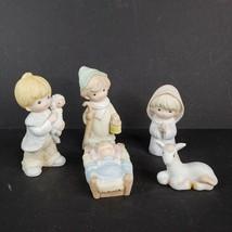 Homco Nativity Set Porcelain Children Figurines 5 Pieces Home Interiors #5602 - $45.00