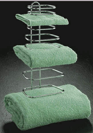 THREE GUEST TOWEL RACK FOR HOTELS OR GUEST BATH ROOMS
