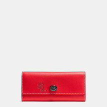 NWT Coach Disney X Mickey Turnlock Smooth Leather In Red Limited Edition - $315.00