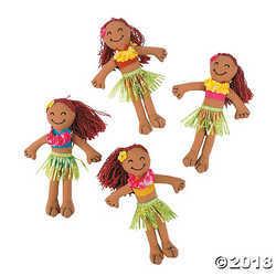 Hula Girl Yarn Hair Dolls