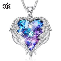 Women Necklace Pendant Embellished with crystals from Swarovski Heart Ne... - $32.00+