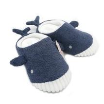 Whale Slippers Winter Autumn Cute Plush Girl Shark Soft Bottom Indoor Fl... - $20.99