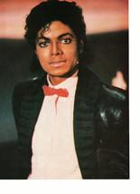 Michael Jackson teen magazine pinup clipping red tie Triller Rockline Bop