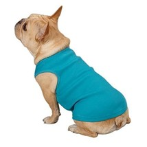 Casual Canine Cotton Basic Ribbed Dog Tank Top, Teacup, 6-Inch, Air Blue - $7.58