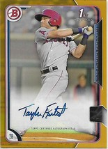 2015 Bowman Prospects Autographs Gold #PATF Taylor Featherston 24/50 Angels - $12.49