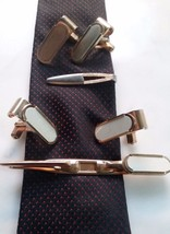 Vtg Estate SWANK Cufflinks Swank Tie Clip Bar / 2 Sets - $12.86