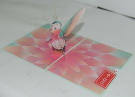 Lovepop LP2400 Lovely Hummingbird Pop Up Card White Envelope Cellophane Wrapped image 3