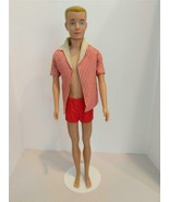 Barbie Vintage Ken Doll Straight Legs Blonde Painted Hair Swimsuit & Cov... - $44.55