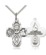 Five Way Pewter Pendant on a 18 inch  Chain - Medium Size - $30.99