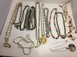 Vintage & Modern Necklace Lot 12 Monet Freshwater Pearl Multi Strand Abalone - $38.69