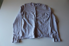 W13243 Womens ANN TAYLOR Lavender Purple Pearl Button CARDIGAN SWEATER S... - €15,44 EUR