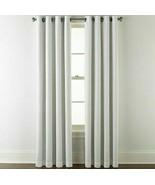 (1) NEW JCPENNEY Sullivan Cool White Blackout Grommet Curtain 50 X 84 73... - $38.60
