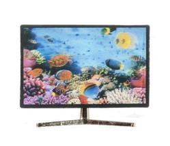 DOLLHOUSE MINIATURES SMART TV W/ 3D FISH IMAGE #G7523 - $6.99