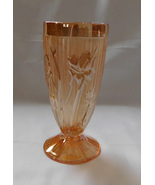 Jeanette Glass Iris Herringbone Marigold Iridescent Carnival 6 In Footed... - $7.99