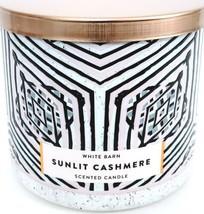 Bath & Body Works Sunlight Cashmere 3 Wick Candle White/Black jar, Coppe... - $27.23