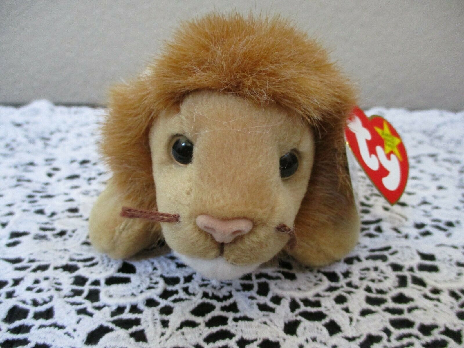 Primary image for Ty Beanie Baby Roary 1996 5th Generation 2 Hang Tag Errors Misprints