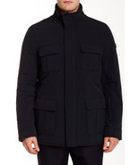 NWT TUMI M Reversible Black nylon to Gray wool coat jacket EG5 overcoat - $330.75