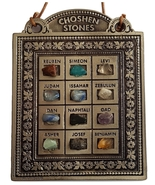 Biblical 12 choshen gems wallhanging ornament & Israel tribes stones in ... - £18.41 GBP