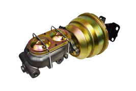 "74-86 Jeep CJ 8"" Dual Power Brake Booster Master Cylinder Prop Valve Disc/Disc image 4"